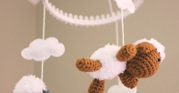 Crochet Lamb Pattern and Baby Mobile - Repeat Crafter Me ...