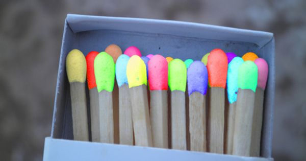 Neon colored matches that make the flame turn the color when you