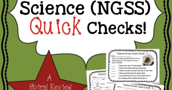 Reinforce key science concepts ALL YEAR! This Quick Check ...