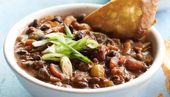 Beef And Black Bean Chili Recipe Black Bean Chili And