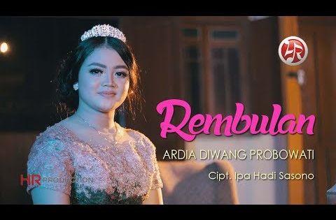 Ardia Diwang Probowati Rembulan Official Youtube Lirik