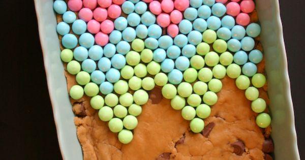Peanut Butter Rolo Blondies w/ White Chocolate Chevron. | Brownies ...