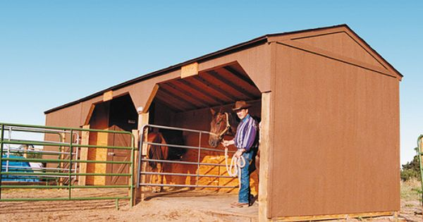 Divided Loafing Shed With Storage Dream Farm Ideas