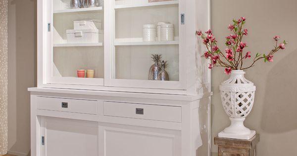 vitrine wei landhaus buffetschrank wei landhausstil wohnzimmerschrank wei. Black Bedroom Furniture Sets. Home Design Ideas