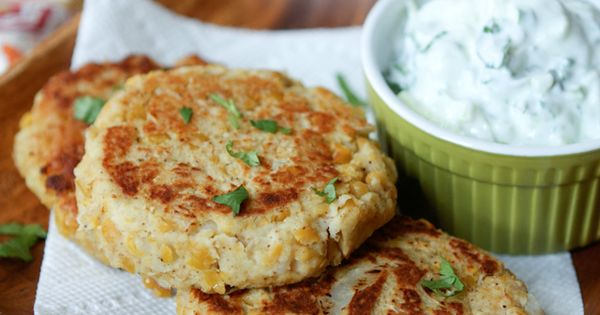 Chickpea Cakes with Cucumber-Yogurt Sauce | Recipe | Carrot fries ...
