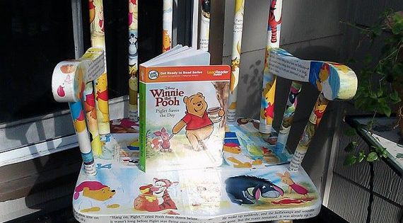 Decoupage Winnie The Pooh Saves The Day Childs Rocking