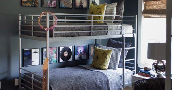 teenagerzimmer-für jungs etagenbett metallgestell ...