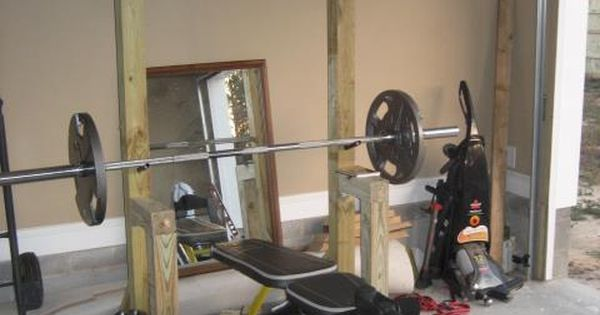 Garage Workout Station With Pull Up Bar Made With 4x4