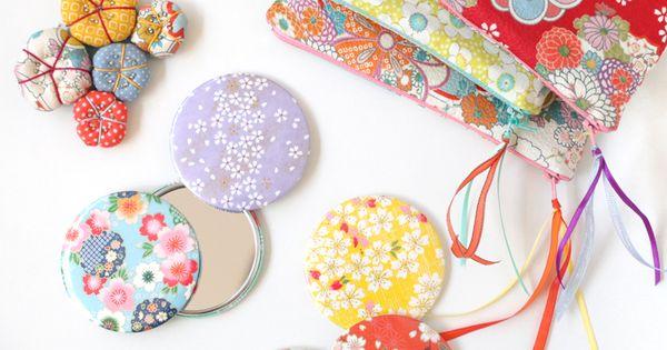 Trousses et miroirs en papiers japonais chez adeline klam for Miroir japonais