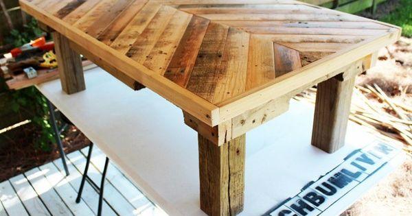 Palettes en bois id es de bricolage de meubles tables for Bricolage bois meuble