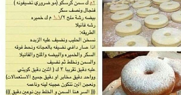 دونات هشة Arabic Food Lebanese Desserts Recipes Dessert Recipes