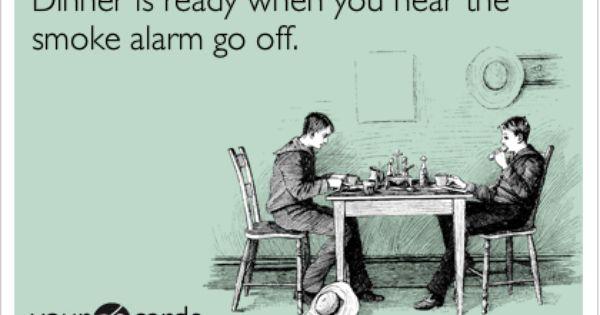 Lunch Dinner Smoke Alarms Funny Fun
