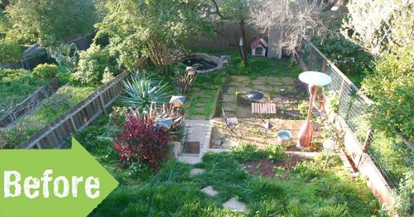 Before After Brad S Backyard Cleanup Outdoor Makeover