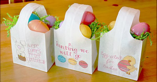 Quick And Easy Paper Easter Bags Easter