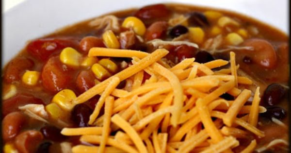 Slow cooker 8 Can Taco Soup | Six Sisters' Stuff ~ 1