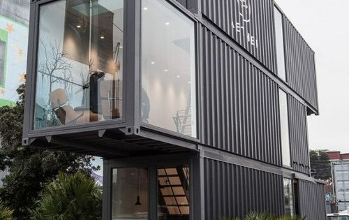 Remain simple. New concept of reusing shipping containers for buildings and homes
