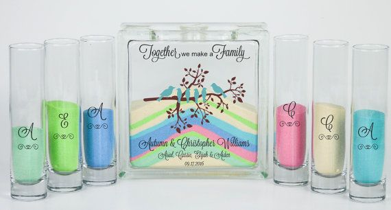 Blended Family Wedding Unity Sand Ceremony Set Bird Theme