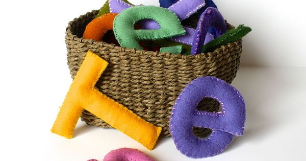 Felt Stuffed Toy Letters {Tutorial}~ Great for learning letter sounds, letter recognition