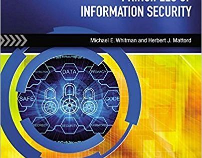 Solution Manual For Principles Of Information Security 5th Edition By Michael E Whitman Herbert J Mattord Principles Ebook Security