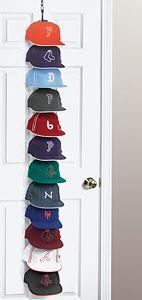 How To Organize Ball Caps Organize It Blog Cap Rack Cap Organizer Cap Storage Ideas