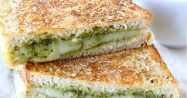 Pesto grilled cheeses, Parmesan crusted and Grilled cheese sandwiches ...