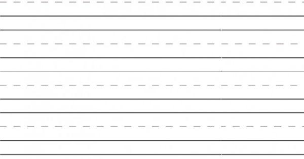 Blank Handwriting Worksheets For Kindergarten : Printable kindergarten blank writing worksheets number