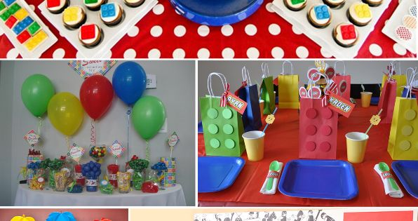 lego party. I cannot wait for our Lego themed party! Some of