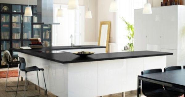 Ilot de cuisine faktum abstrak d 39 ikea d co pinterest for Ilots centraux cuisine