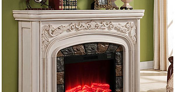62 Quot Grand White Electric Fireplace At Big Lots Rooms