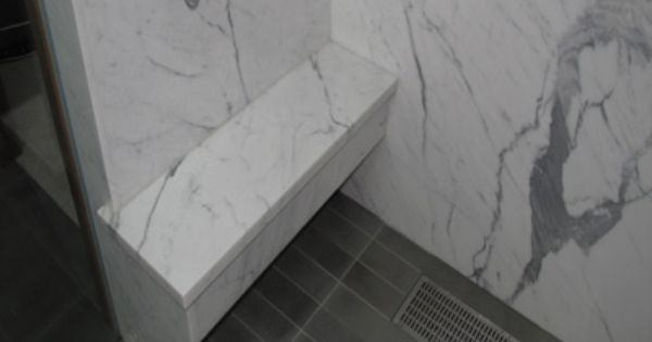 Carrara With Dark Gray Floor Tile Hmmm Grey Flooring Grey Floor Tiles Modern Baths
