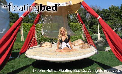 Outdoor Hanging Bed Floating Bed Outdoor Beds Outdoor Bed Swing