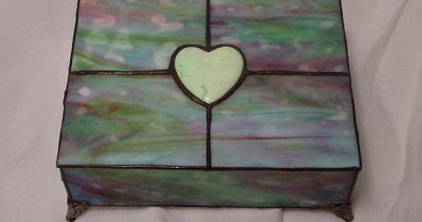 stained glass box made with bullseye glass and accented. Black Bedroom Furniture Sets. Home Design Ideas