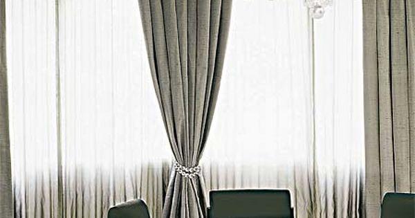 Cortinas transparentes e vaporosas cortina de seda for Cortinas transparentes
