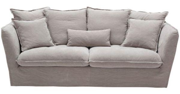 canap decoclico achat canap en lin gris d houssable et pin 2 places paros hanjel prix promo. Black Bedroom Furniture Sets. Home Design Ideas