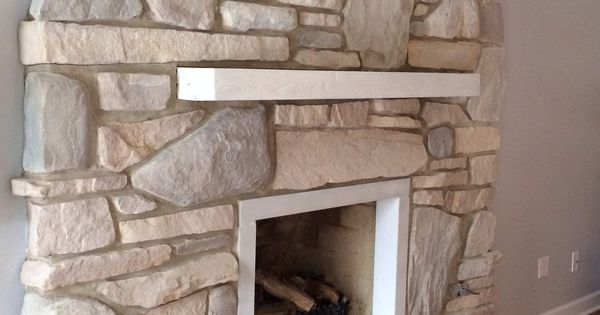 White Washed Stone Fireplace For Our Home Pinterest
