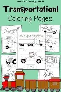Coloring Pages Transportation Preschool Transportation Theme Preschool Transportation Unit