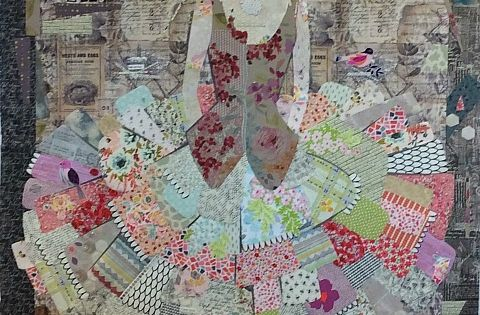 The Dress Collage Pattern By Laura Heine Art Quilts