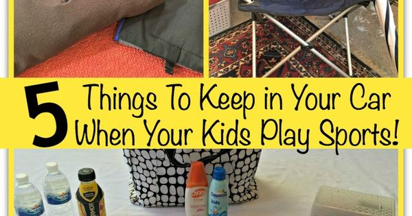 5 things to keep in your car when your kids play sports seasons cars and plays. Black Bedroom Furniture Sets. Home Design Ideas