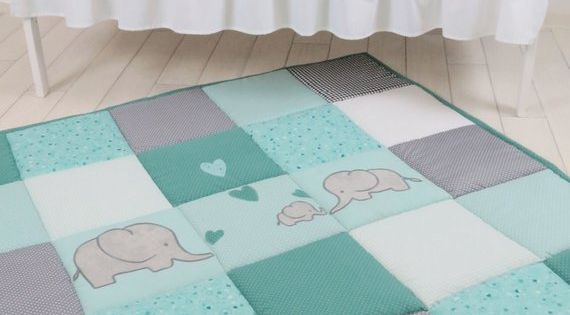 mint green Crab blanket children/'s blanket blanket baby blanket up to 140 x 140 cm with name personalized green