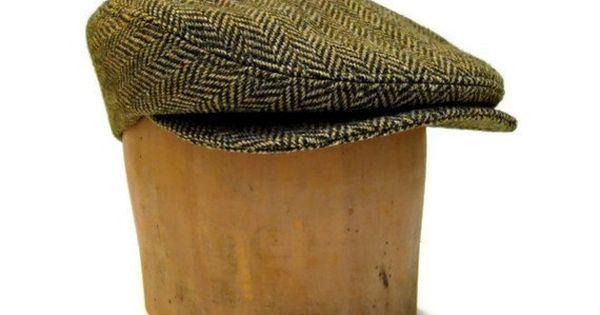 Mens Hat  Driving Cap in Vintage Herringbone by bonniesknitting, $75.00