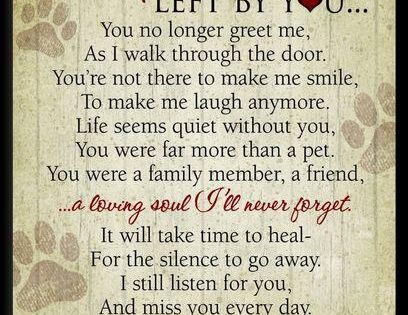 #Paw Prints Left by you Poem pets Miss you terribly | Vayda