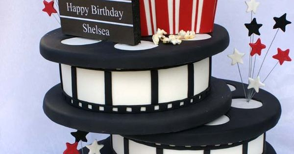 Movie Theme Cake movie cake film party birthday bday art dessert