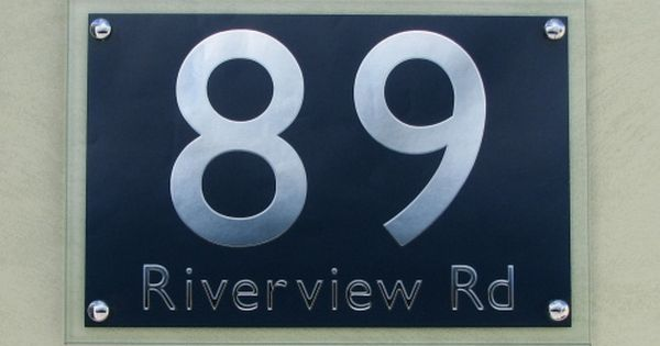 Polished Glass Address Plaque Order From House Signs House