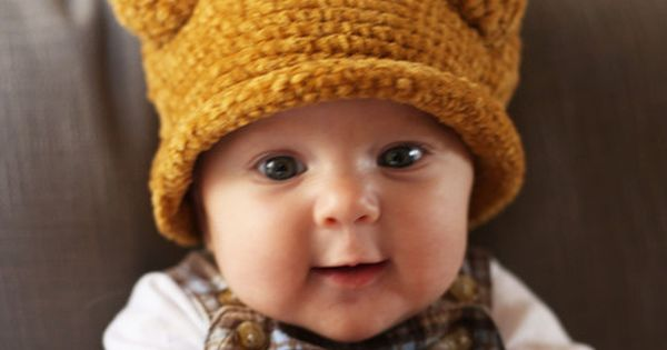 This kid is unfairly adorable in his little adorkable Thanksgiving hat.