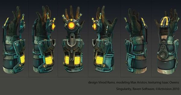 Singularity Glove Detail View | SciFi Gloves | Pinterest ...