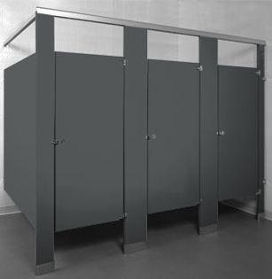 Charcoal Powder Coated Powder Coating Charcoal Bathroom Partition