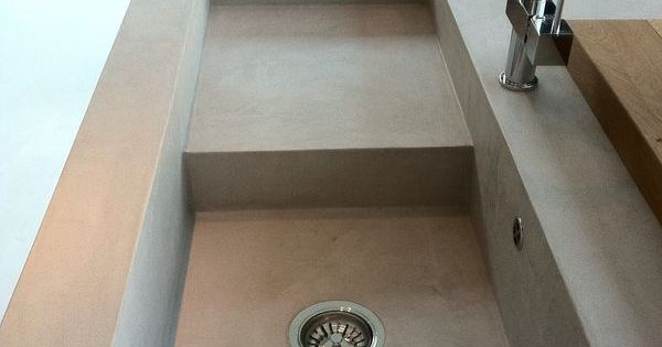 Tarja de cemento cocina perdurable pinterest for Manerales para tarja
