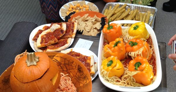 Classroom Potluck Ideas ~ Halloween themed potluck party office ideas