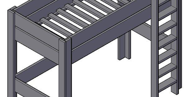 Hoogslaper maken half hoogslaper maken pinterest hoogslaper bouwtekening en tienerkamer - Ruimtebesparende mezzanine ...