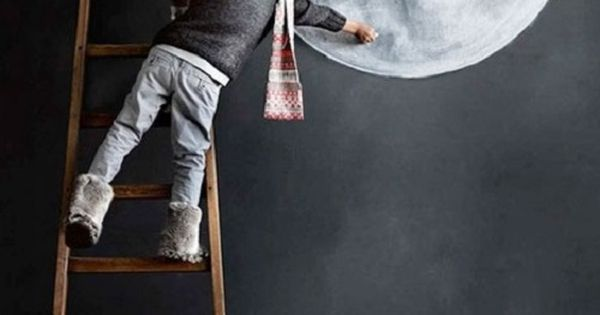 Decorar paredes con pintura de pizarra y tiza decoraci n - Pizarra decoracion pared ...